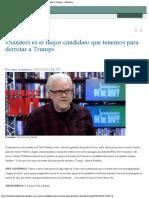 «Sanders Es El Mejor Candidato Que Tenemos Para Derrotar a Trump» – Rebelion