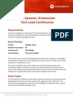 OutSystems 10 Associate Tech Lead