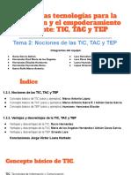 Nociones TIC, TAC y TEP