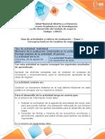 Guía de actividades y Rúbrica de evaluación - Etapa 1 - Conceptos básicos de modelos de negocios