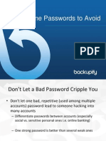 Ten Passwords to Avoid