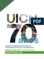 UICN AMÉRICA DEL SUR REPORTE 2018