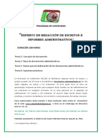 """""""EXPERTO EN REDACCIÓN DE ESCRITOS E INFORMES ADMINISTRATIVOS"""""""