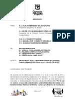 Recusación PA 289 de 2020