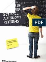 A RE VIEW OF THE BULGARIA SCHOOL AUTONOMY REFORMS