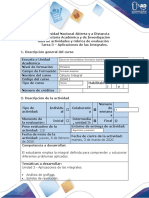 Tarea 3 -Ejercicios Aplicaciones de las integrales