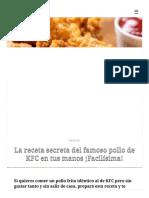 La receta secreta del famoso pollo de KFC en tus manos ¡Facilísima! _ MUI Recetas