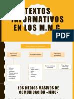 Textos informativos en los MMC