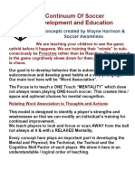 Soccer Awareness A Continuum of Soccer Development and Education