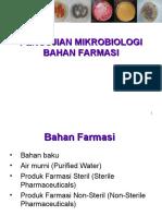 PENGUJIAN MIKROBIOLOGI BAHAN FARMASI