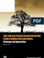 Long Term Care Policies for Older Populations in new EU Member States and Croatia