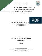 INFORME RECUPERACION Y APROVECHAMIENTO DE RESIDUOS SOLIDOS.docx