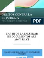 DELITOS VS FE PUBLICA