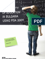 Assessing the Quality of Education in Bulgaria using PISA 2009