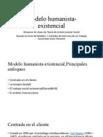 modelo humanista existencialista