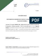 CONCEPTO DIAN PAGOS POR NOMINA - PARA EFECTOS DE FACTURACIÓN ELECTRONICA