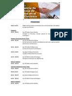 Programa de Conversatorio -3 de setiembre