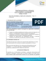 Guia de actividades y Rúbrica de evaluación - Fase 5- Evaluación