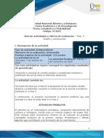 Guia de actividades y Rúbrica de evaluación - Fase 3 - Diseño y construcción
