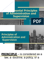 EDUC 605 - Fundamental Principles of Administration and Supervision