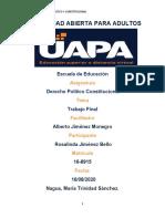 TRABAJO FINAL DERECHO POLITICO Y CONSTITUCIONAL ROSALINDA 2020