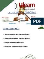 Grupo #1 - Codigo de Trabajo - Artículo 42 (Obligaciones del Empleador)..pptx