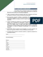 FORMATO DE CONDICIONES DE HOMOLOGACION