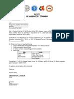 SK MANDATORY TRAINING (Letter)