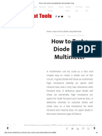How to Test a Diode Using Multimeter