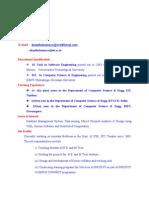 Asst Prof Resume template