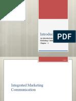 Integrated Marketing Communication Chapter 1