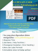 ANALISA DESAIN USER INTERFACE PALEMBANG.GO.ID