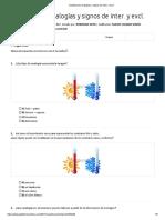 Cuestionario analogías y signos de interrogación y exclamación