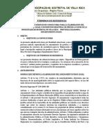 TÉRMINOS DE REFERENCIA saneamiento fisico legal rural