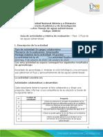 Guia de actividades y Rúbrica de evaluación - Unidad 2 - Fase 2 - Flujo de las aguas subterráneas
