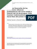 Andrea Saunier y Hernan Avalos (2010). Practicas funerarias de las poblaciones alfareras prehispanicas del curso medio e inferior del rio (..)