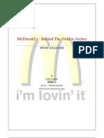 mcdonald swot analysis