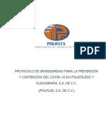 PROTOCOLO SANITARIO COVID-19 POLIFLEX, S.A. DE C.V. - FINAL