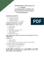 PLAN DE TRABAJO SEMANA1 20- 21 GNERAL LEONA VICARIO