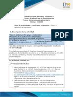 Guía de actividades y rúbrica de evaluación - Unidad 1- Fase 2 - Aplicación de bioprocesos
