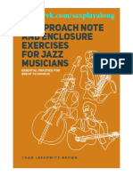 15 Approach Note Enclosure Exercises for Jazz Musicians