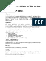DEFINICION Y ESTRUCTURA DE LOS ESTADOS  FINANCIEROS.doc
