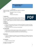 Guia de Autoestudio No. 1 Generalidades del Derecho Laboral I Unidad (1)