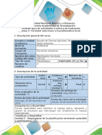 Guía de actividades y rúbrica de evaluación. -Fase 5 - Formular soluciones a la problemática local