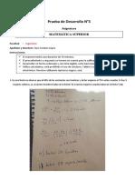 Prueba de Desarrollo N°3 - Mat Superior