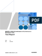 Test Report - [MLBFD-12000101] Verification of UL Services in Standalone Cells