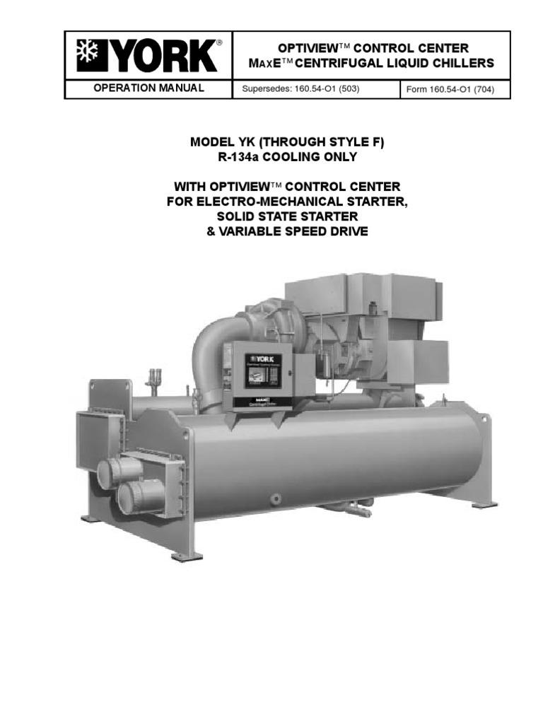 Operation Manual York Chiller