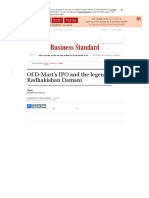 Of D-Mart's IPO and the legend of Radhakishan Damani _ Business Standard News