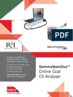 Gamma scanner for conveyor belt wright of coal