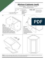 Bamboo Diagonal Wall Corner Assembly Instructions